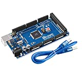 ELEGOO Mega 2560 R3 Tarjeta Placa Compatible con Arduino IDE con Microcontrolador Basada en el ATmega2560 ATmega16U2 con USB Cable Azul Versión Mega Kit