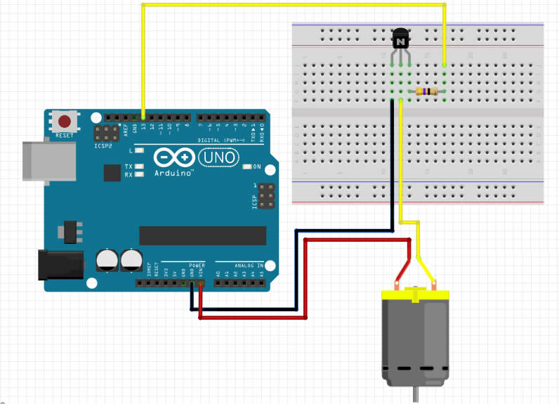 Conexion del motor DC con Arduino UNO